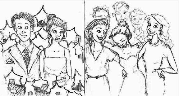 AWKWARD TO AWESOME Just a few simple tricks can turn your night at Winter Formal from mediocre to magnificent. Art by Megan