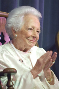 Margaret McDermott, a lifetime trustee, is 101 years old. She knew Ela Hockaday personally and has a unique perspective on the school. Photo provided by Charlotte Hoskins