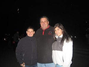 REUNITED Senior Alexandra Villareal and her brother Nicholas visit their dad Andy in New York. PHOTO BY BOBBIE VILLAREAL