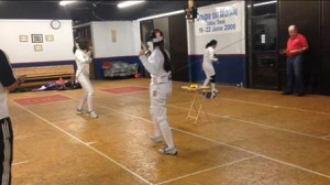 ON THEIR TOES Members of the Hockaday Fencing Team practice their skills. Photo provided by Alina Liu