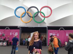 McManemin attends the 2012 Summer Olympics.