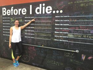 FRONT RUNNER Alumna Liz Cowle sets her goal to complete a cross-counry marathon. PHOTO PROVIDED BY LIZ COWLE