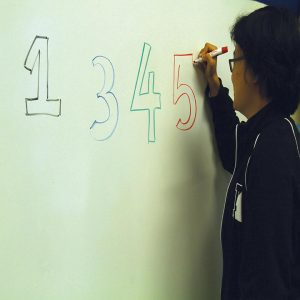 BY THE COLOR  Junior Lydia Li has grapheme-color synesthesia, allowing her to associate single digits with various colors. Credit: Inaara Padani