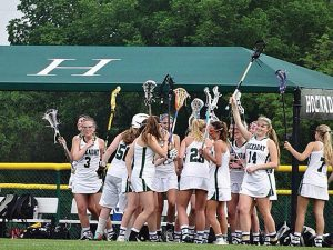 UNIFIYING TRADITIONS Pregame rituals are something that many Hockaday teams take part in, although they vary in what they entail. Photo provided by Pushpa Anaand