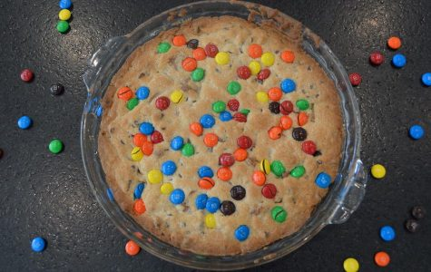Since the AM: Leftover Halloween Candy Cookie Cake