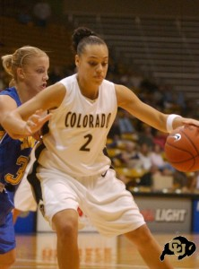 Amber Metoyer playing for the University of Colorado Photo provided by Amber Metoyer