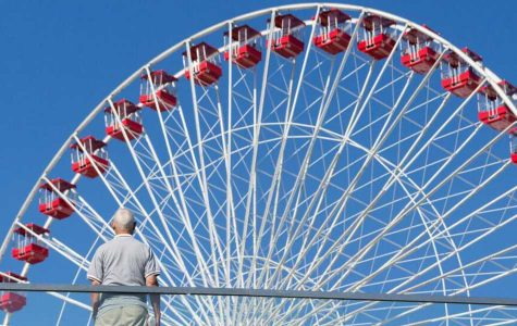 When at a photography program in Chicago, Malakoff photographed the ferris wheel at the Navy Pier. Photos provided by Mercer Malakoff