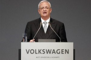 Volkswagen Emissions Scandal. Ex-Volkswagen CEO Martin Winterkorn announces his resignation. Photo provided by Frank Augstein