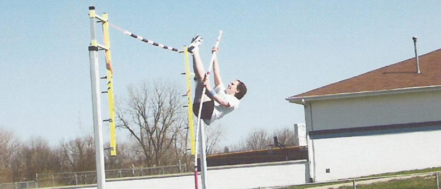 Track and Field Athletes Swing into Pole Vaulting