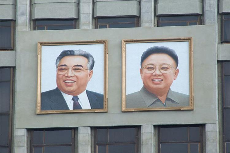 Portraits of the Eternal President, Kim II-sung and the Eternal General Secretary of the Workers' Party, Kim Jong-il. Photo provided by Nicor