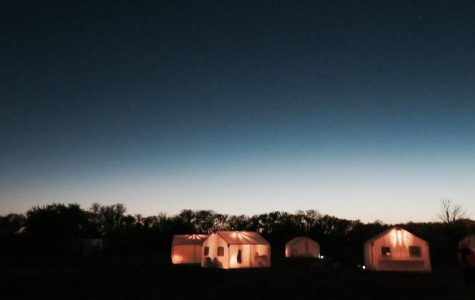 Senior Sadie Lidji photographed the sleeping tents while staying at the El Cosmico hotel in Marfa, Texas just outside Big Bend National Park.