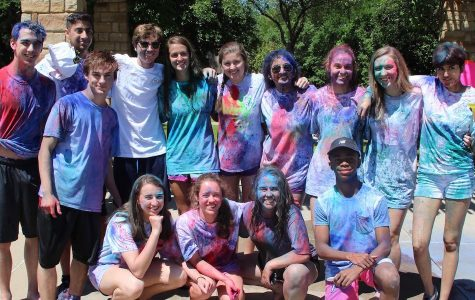 Students from all Dallas private high schools were invited to play Holi. // Photo by Cheryl Hao