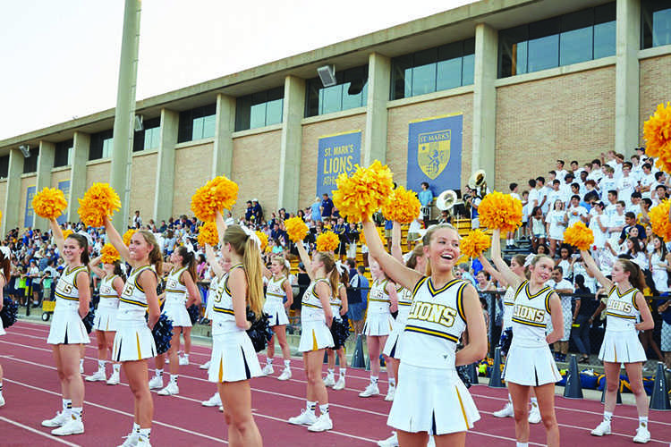 Cheering+for+the+Home+Team%3A+St.+Mark%27s+cheerleaders+renew+tradition+of+cheering+at+Hockaday+pep+rallies