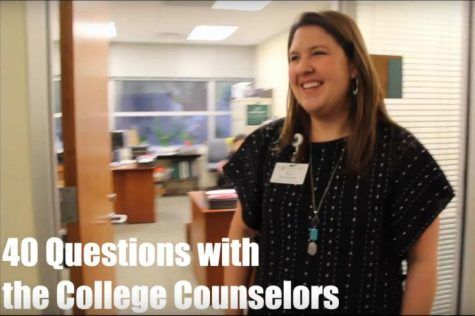 40 Questions with the College Counselors