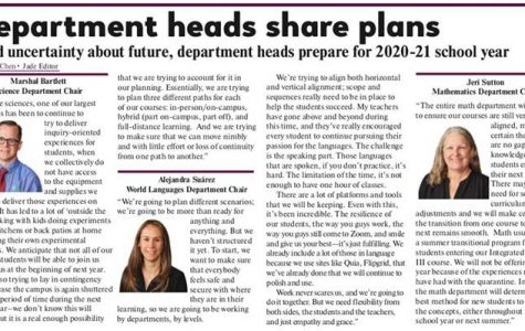 Department heads share plans