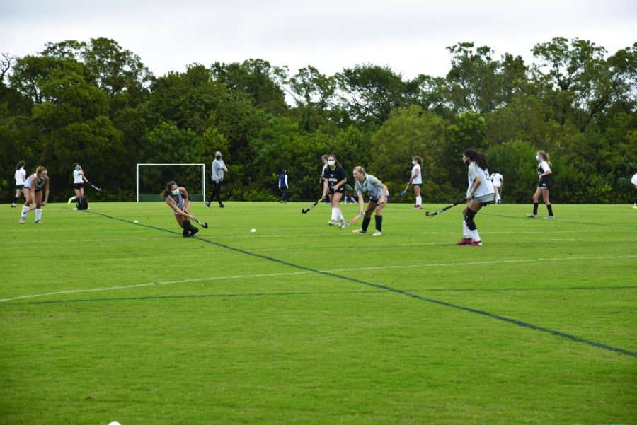 Field Hockey returned to practice Sept. 21 while following health guidelines. photo by Katherine Grace Estess
