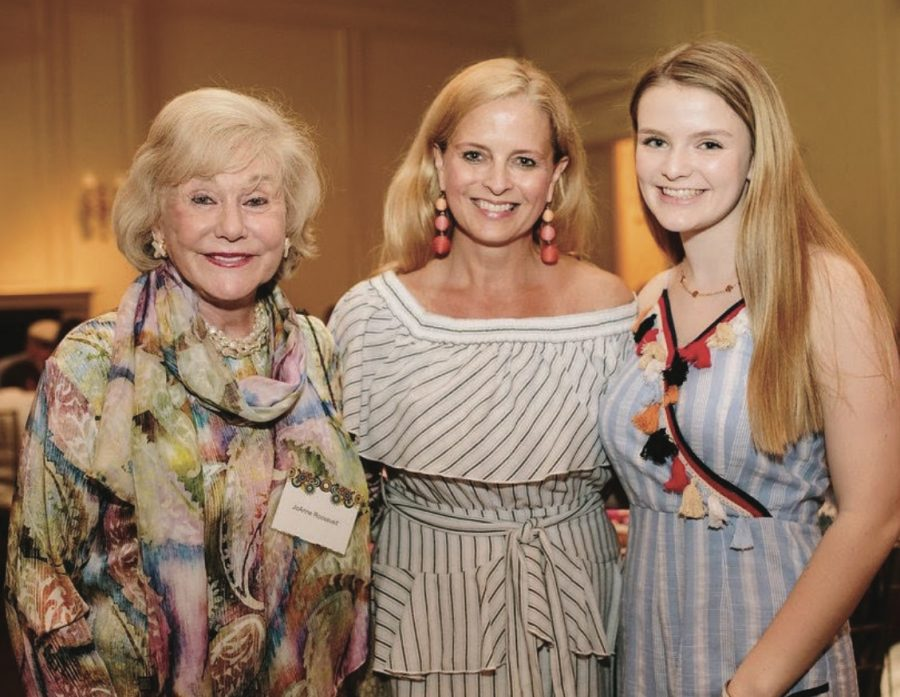 With her grandmother and mother, Roosevelt attends a JDRF luncheon. Diagnosed with Type I diabetes at age 5, Roosevelt works to further awareness and to benefit others living with the disease. photos courtesy of Elizabeth Roosevelt.