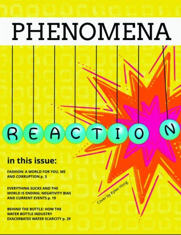 Phenomena published their latest edition, Reaction, over the summer. They plan on publishing their next edition, Law, before the end of the year. photo provided by Phenomena Magazine